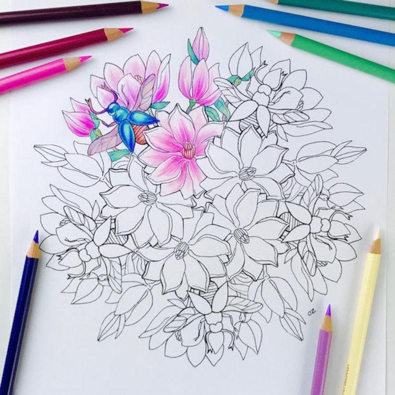 Mandala Kleurplaten Voor Volwassenen Bloemen.Lente Mandala Kleurplaten Pagina Afdrukbare Mandala S Etsy