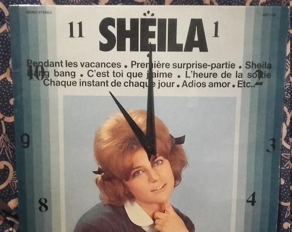 Sheila 33 T vinyl clock