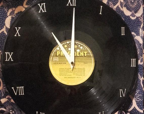 The Spotnicks 33 T vinyl clock