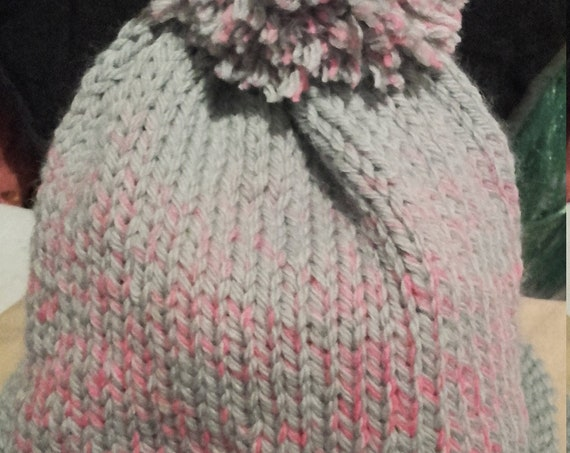 """Hat """"candy cane"""", removable tassel, oeko tex"""