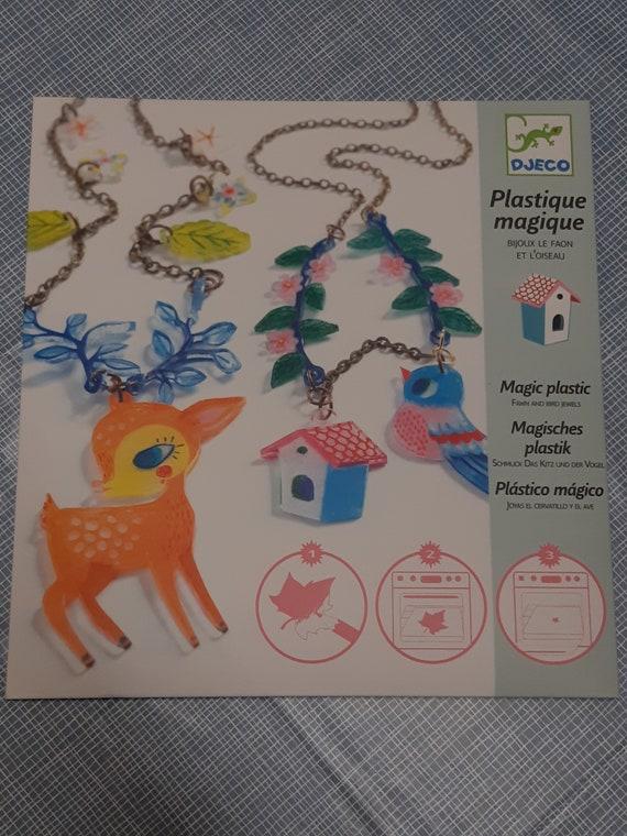 Kit fabrication de bijoux. DIY plastique magique