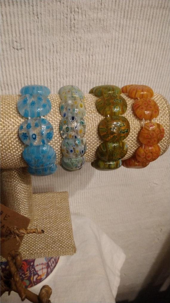 bracelet en verre véritable