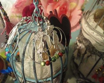 Parrot, way Creole earrings