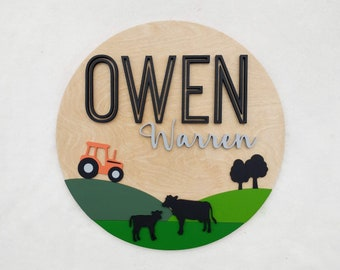 """Farm Nursery Name Sign 