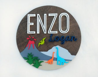 """Dinosaur Nursery Name Sign 