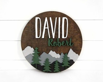 """Woodland Nursery Name Sign 