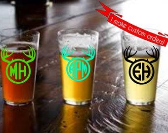 Hunting Pint Glass, Custom Pint Glass, Wedding Beer Gifts, Groomsmen Gifts, Man Gifts, Groomsman Gifts, Custom Beer Mug, Wedding Favors
