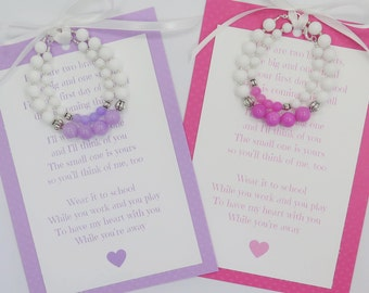 Mommy and me bracelet set / first day of school / mommy and me / poem / daughter / gift / back to school