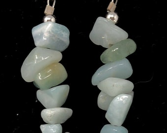 PENDING STONE IV /semiprecious/amazonite stones and sterling silver 9.25/Boho chic casual and elegant