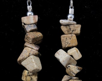 PENDING STONE II /semiprecious stones/wood and silver sterling 9.25/Boho chic casual and elegant