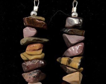PENDING STONE I /semiprecious/mokaita stones and sterling silver 9.25/Boho chic casual and elegant