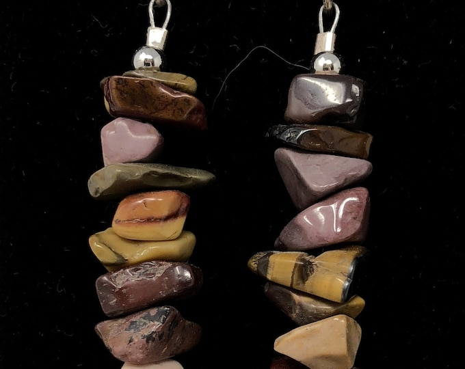 PENDING STONE I /semiprecious/mokaita stones and sterling silver 9.25/Boho chic casual and elegant