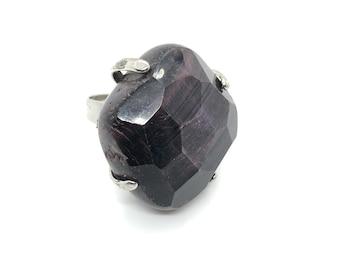 XANNA RING 16 /semi-precious stones/black-purple agate