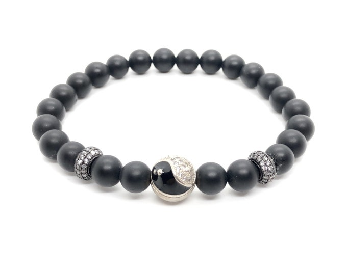Bracelet BOTH 19 /semiprecious stones/onyx matte/boho chic elegant casual