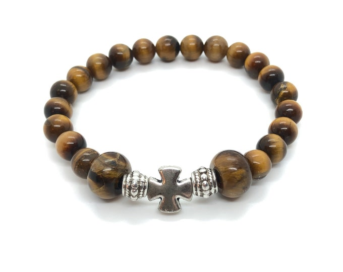XANNA STONE Bracelet (32) semiprecious/piedras/tiger eye/Elegant Casual