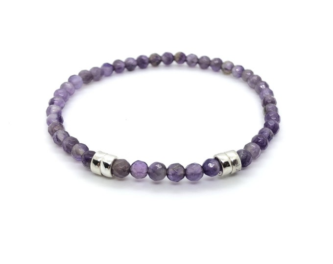 ETEREA bracelet / semiprecious stones / amethyst and silver/boho chic entrees, elegant, casual