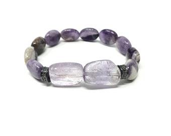 GEA2_P1 bracelet /semiprecious stones /amethyst/Boho chic elegant casual