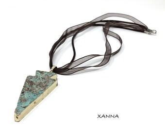 Necklace Pendant 1/piedras semiprecious/ocean jasper pendant/Boho chic casual Elegant
