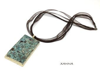 Necklace Pendant 3/piedras semi-precious stones/ocean jasper pendant/Elegant Casual chic Boho