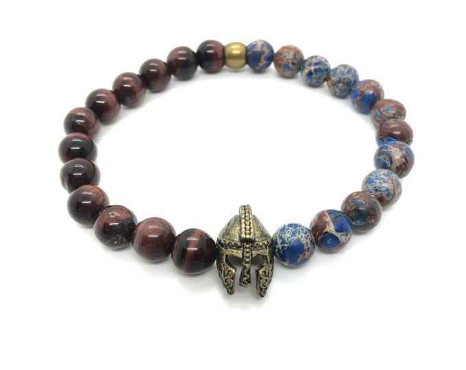 XANNA STONE Bracelet (39) Semi-precious/piedras/Imperial jasper and porthole/elegant casual