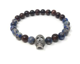 XANNA STONE Bracelet (38) semi-precious/piedras/Imperial jasper and porthole/elegant casual
