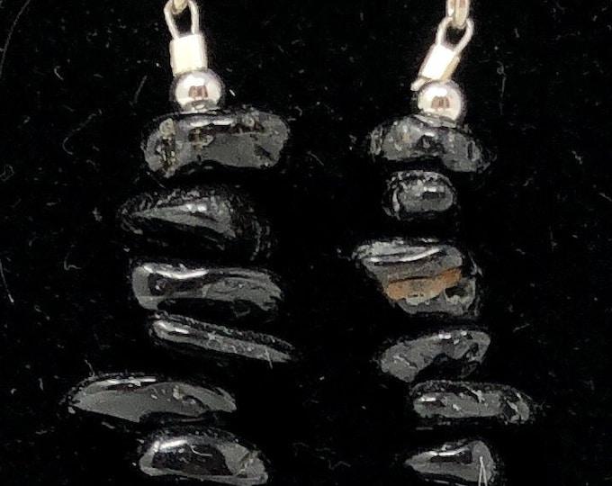 PENDING STONE IX /semi-precious/onyx stones and sterling silver 9.25/Boho chic casual and elegant