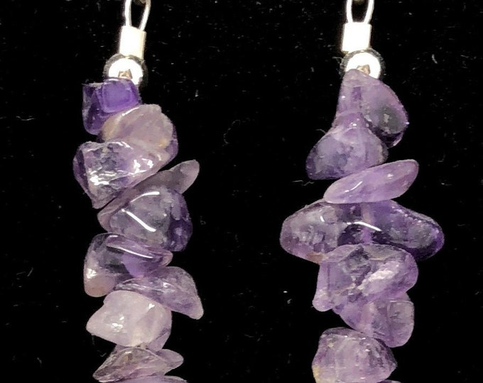 PENDING STONE VII /semi-precious/amethyst stones and sterling 9.25/Boho chic casual and elegant