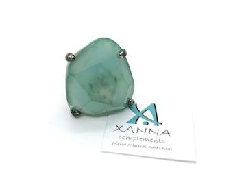 XANNA Ring 10/piedras semiprecious/Green Agate
