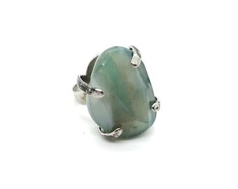 XANNA RING 18 /semi-precious stones/turquoise green agate