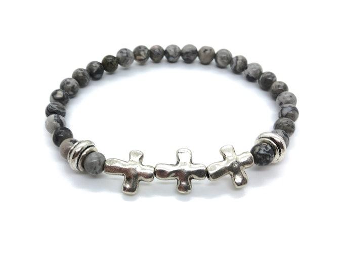 XANNA STONE Bracelet (35)/piedras semi-precious/jasper Map/Casual Elegant