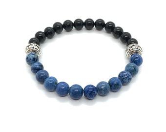 XANNA STONE Bracelet (29)/piedras semiprecious/Onyx and sesame Jasper/Casual Elegant