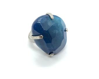 XANNA RING 14 /semi-precious stones/blue agate