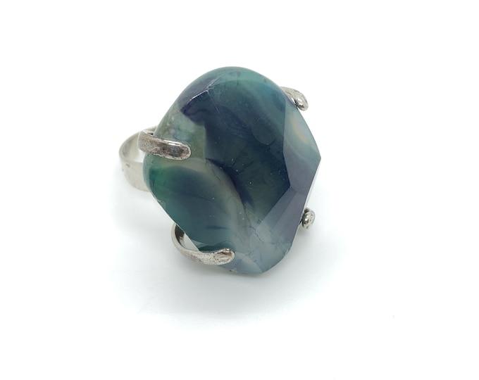 XANNA RING 14 /semi-precious stones/turquoise blue agate