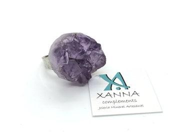 XANNA Ring 12/piedras semiprecious/Amethyst Lilac Druzzy