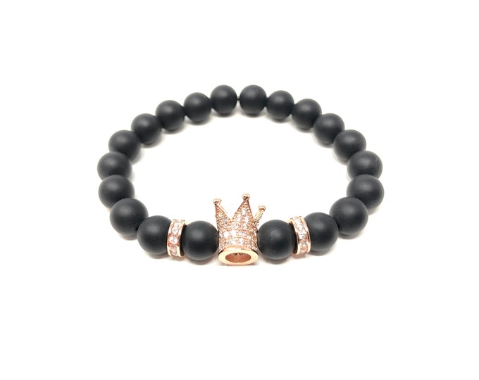 Bracelet Set IV (XANNA by Steven Vázquez) / onyx matte / golden footing pavés crown