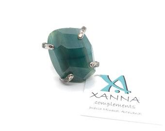 XANNA Ring 12/piedras semi-precious/green Agate