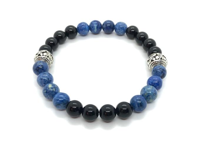 XANNA STONE Bracelet (30)/piedras semiprecious/Onyx and sesame Jasper/Casual Elegant