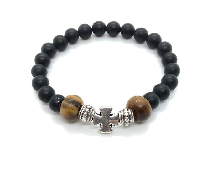 XANNA STONE Bracelet (31) Semi-precious/piedras/Onyx and Tiger eye/elegant Casual