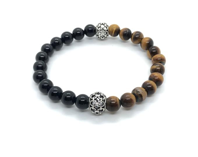 XANNA STONE Bracelet (28) Semi-precious/piedras/Onyx and Tiger eye/elegant Casual