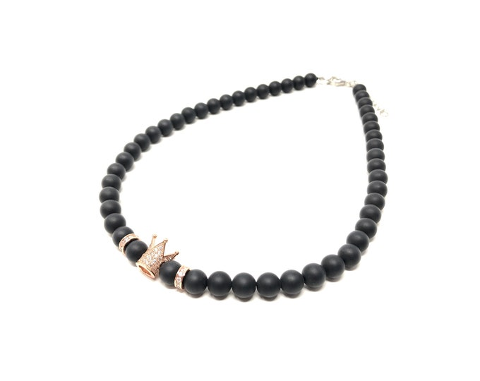 Choker Sets IV and V (XANNA by Steven Vázquez) / onyx matte / golden footing crown with pavés