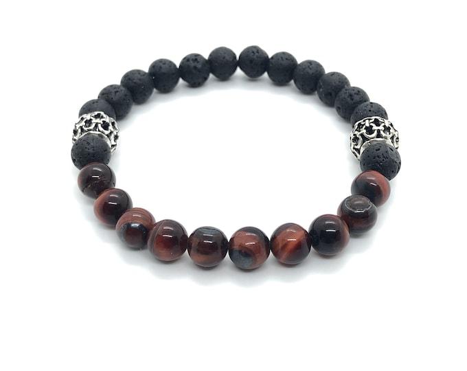 XANNA STONE Bracelet (17) semi-precious/piedras/porthole and Volcànica lava/elegant Casual