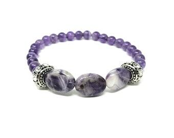 bracelet GEA2_P2 /semi-precious stones/amethyst/Boho chic elegant casual