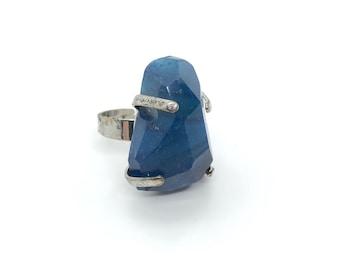 XANNA RING 15 /semi-precious stones/blue agate