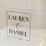 Personalized Wedding Card Box I Acrylic Card Box I Wedding Card Box with Lid |Wedding Money Box | Wedding Card Box | Wedding Card Holder