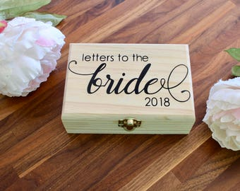 letters to the bride box small keepsake box love letter box anniversary box bride gift bridal shower gift wooden wedding box