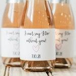 Custom Mini Champagne Bottle Label for Bachelorette Party, Bridal Shower, Bridal Suite, Baby Shower or Bachelorette Bubbly | Custom Labels