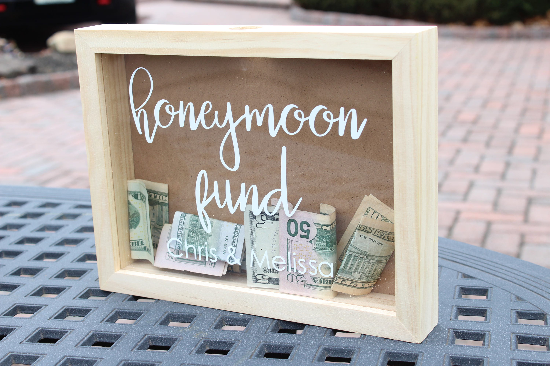 personalized honeymoon fund box honeymoon fund box | etsy