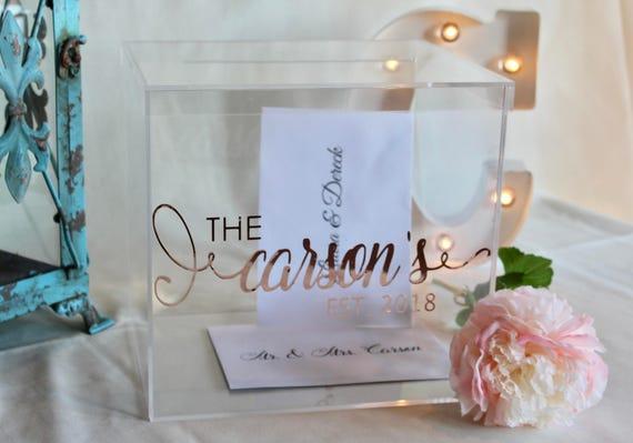 Personalized Wedding Card Box I Acrylic Card Box I Wedding | Etsy