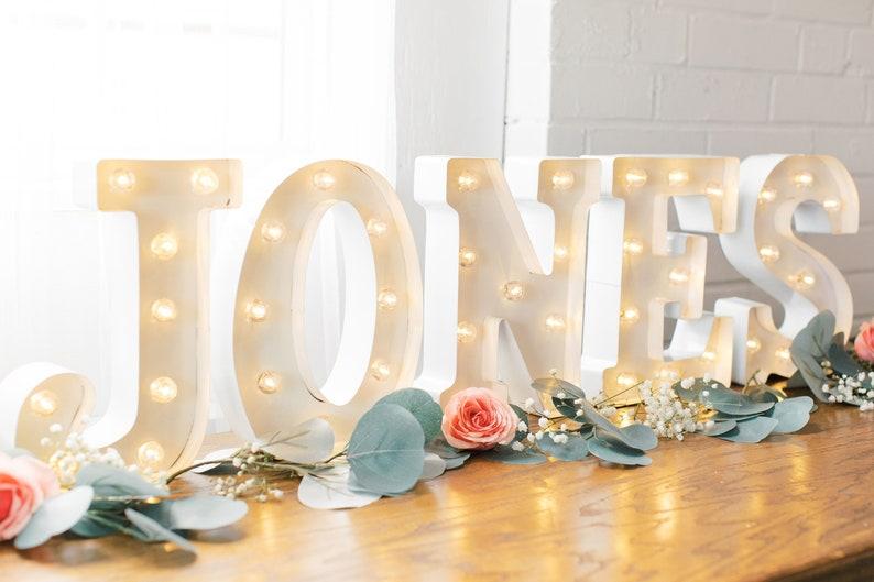 Wedding Marquee Lights Light Up Names Wedding Lights Decor Etsy