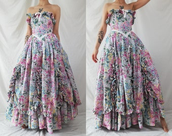 9db8b31251d Vintage Laura Ashley Southern Belle Dress   Ball Gown   Prom Dress
